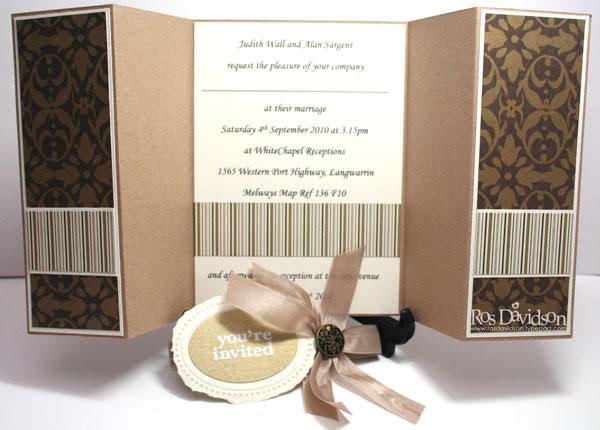 Stampin Up Wedding Invitations: Ros Davidson, Independent Stampin' Up!® Demonstrator