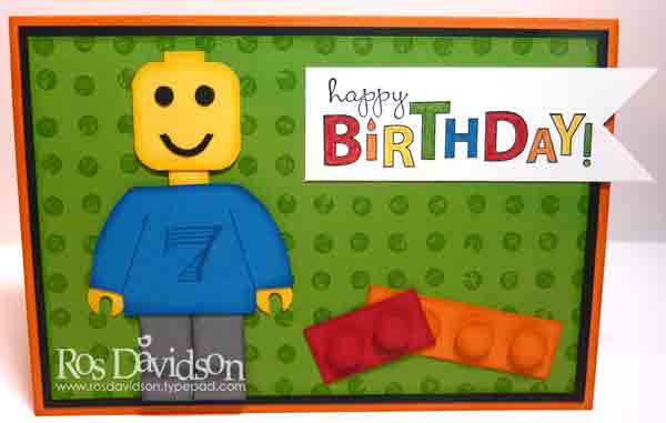 photograph relating to Lego Birthday Card Printable named Ros Davidson, Individual Stampin Up!® demonstrator
