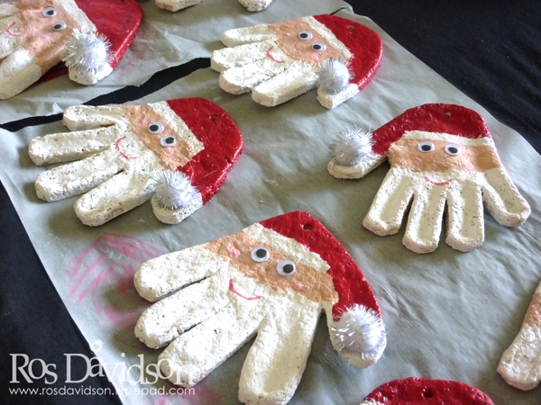 Salt-dough-santas