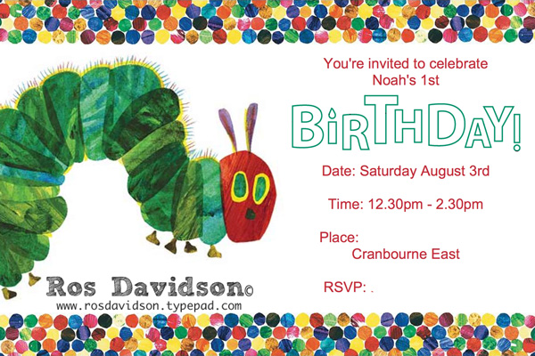 Ros davidson independent stampin up demonstrator melbourne ros davidson independent stampin up demonstrator melbourne australia hungry caterpillar invitation filmwisefo Choice Image