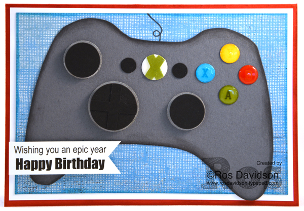 Ros davidson independent stampin up demonstrator melbourne a fun birthday card for a xbox loving boy bookmarktalkfo Images