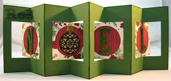 Just add ink challenge 318, christmas card, double lever card, stampin up, delicate ornaments, large letters, big shot