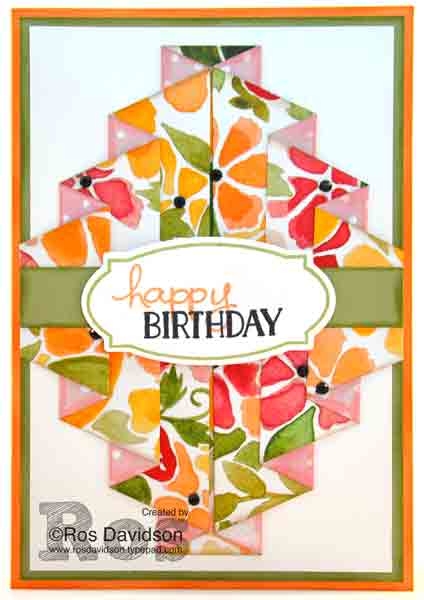Stampin' Up!, double pleated technique, rose wonder, endless birthday wishes, tin of cards