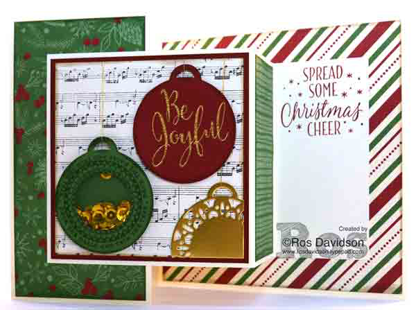 Stampin Up, merriest wishes, tin of tags, double z fold card, shaker card, holiday catalogue 2016, stampin up australia