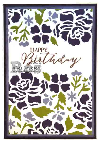 Stampin' Up!, butterfly basics, inlaid embossing technique, try it thursday, heat embossing, big shot, detailed floral thinlets,