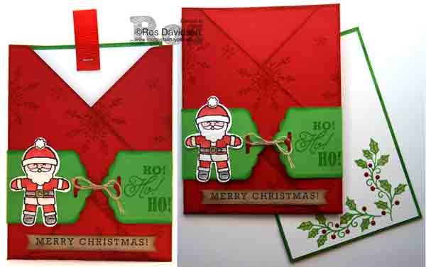 Stampin' Up!, envelope punch board, cookie cutter christmas, greetings from santa, tin of tags, embellished ornaments, envelope pocket