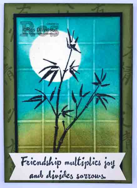 Faux tile atc, artist trading cards, artistically asian, stampin up
