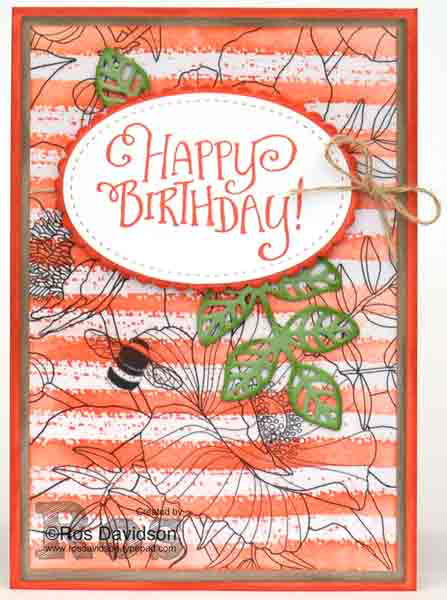 Stampin' Up!, Facebook live video, Sara Douglass, work of art, better together, confetti celebration, emboss resist, big shot, layering oval framelits, stitched shapes framelits, flourish thinlits dies, birthday card, inside the lines designer series paper, try it thursday