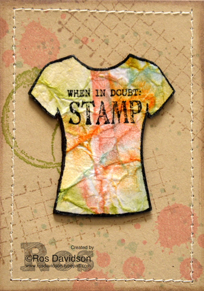 Stampin' Up!, gorgeous grunge, timeless textures, custom tee, designer tee, ATC, artist trading card