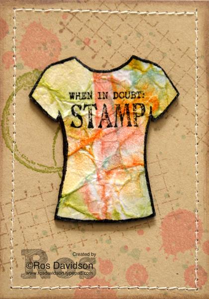 Stampin' Up!, gorgeous grunge, timeless textures, custom tee, designer tee, ATC, artist trading card