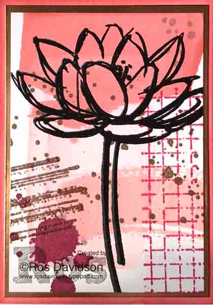 Stampin' Up!, artist trading card, atc, remarkable you, work of art, gorgeous grunge, timeless textures, heat embossing