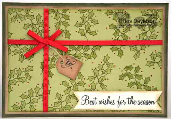 Stampin' Up!, Christmas card, 2 step stamping, holly berry happiness, oh what fun, free card making instructions