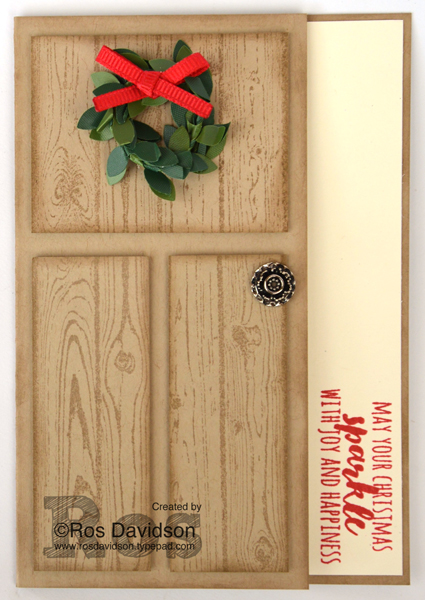 Stampin' Up!, Heart of Christmas, christmas card, Christmas Pines, free step by step instructions included
