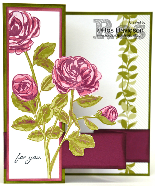Stampin' Up!, stamps by mail, graceful garden stamp set, petal garden memories and more card kit