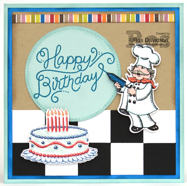 Ros Davidson Independent Stampin UpR Demonstrator Melbourne Australia Up Happy Birthday Chef Card Featuring Delivery Stamp Set