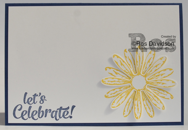 Stampin up, daisy delight, delightful daisy designer series paper, scraps card, birthday card, name card, big shot, large letters framelits, confetti celebrations