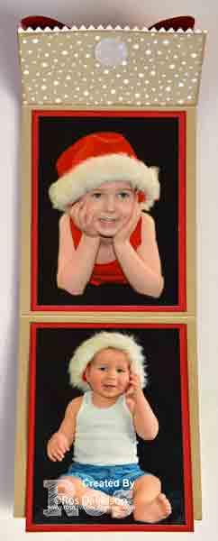 presents, ornaments, christmas decorations, stampin up, bigshot, framelits, candy cane lane designer series paper, pizza box, silhouette portrait