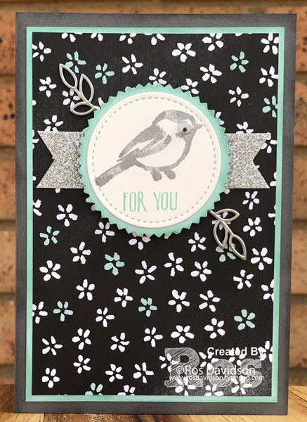 Stampin' Up!, on stage make n takes, petal palette, for you card, petal pattern designer series paper, petal passion embellishments, big shot