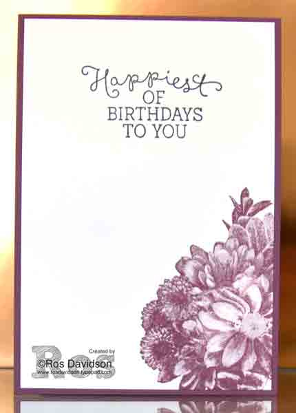 Stampin' Up!, heartfelt blooms, sale-a-bration, free stamp with purchase, for you
