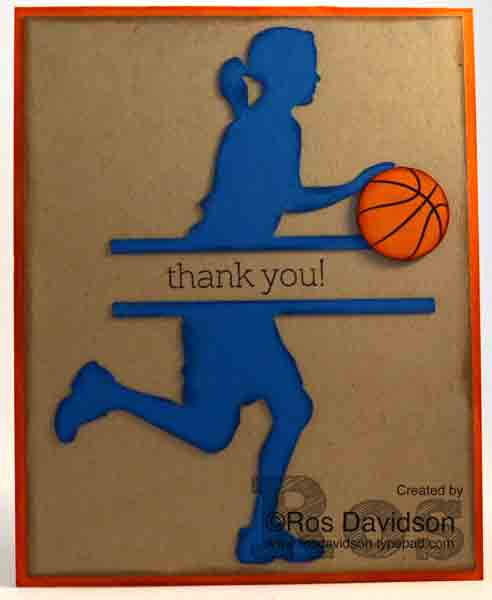 Big news, stampin up, basketball, coach, thank you, silhouette