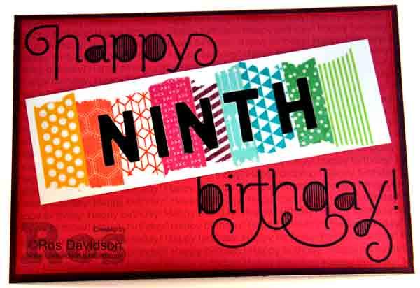 Age awareness, build a birthday, DIY washi tape, washi tape, Stampin up