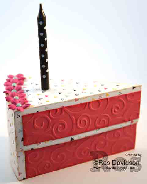 Stampin Up, cake box, it's my party DSP