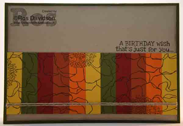 Stampin Up!, blended bloom, remembering your birthday