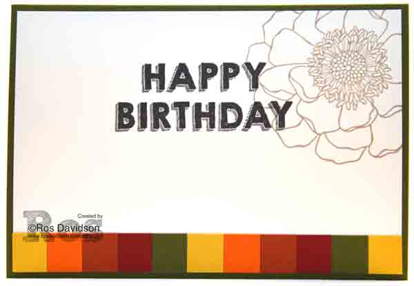 Stampin Up!, blended bloom, party wishes