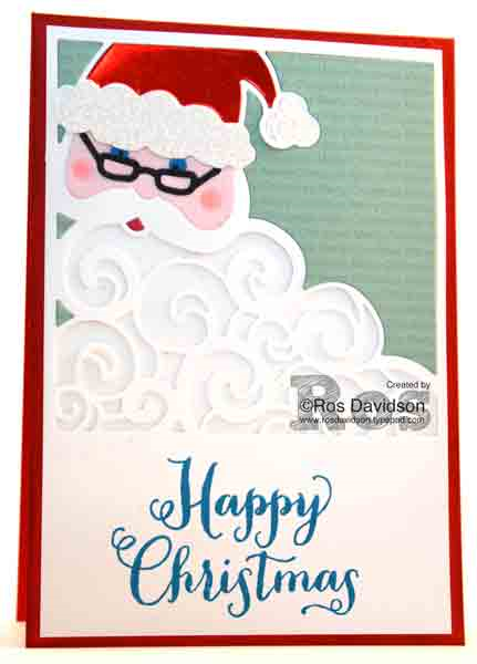 Stampin' Up!, oh what fun, detailed santa thinlets, big shot