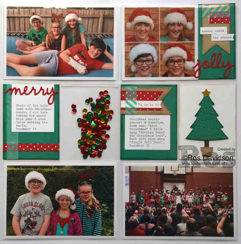 December daily scrapbooking with Project Life #projectlife #decemberdaily #bigshot #stampinup #perfectpines #christmasgreetings #shaker