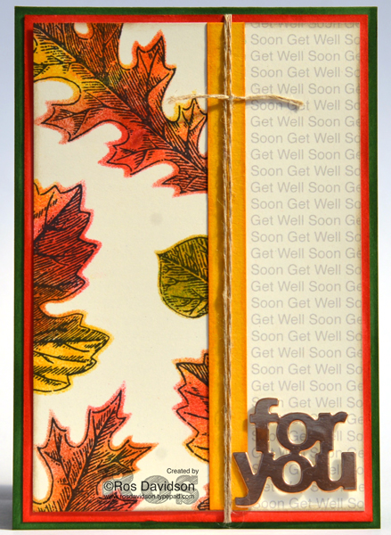 Stampin Up negative die colouring techniques class, vintage leaves, big shot