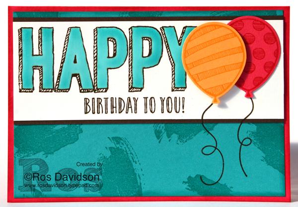 Stampin' Up!, global design project colour challenge, #GDP077, balloon adventures stamp set, happy celebrations stamp set, work of art stamp set