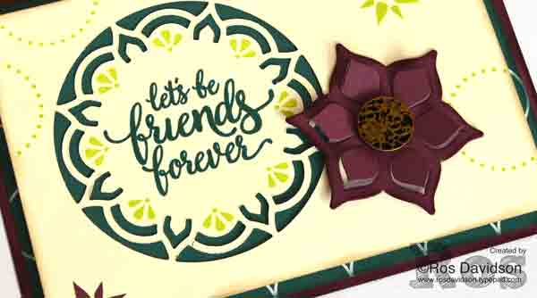 Stampin' Up!, eastern palace bundle, artistically asian, big shot, friend card, new in colors