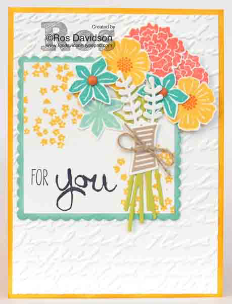 Stampin' Up!, beautiful bouquet, CASE, for you card, big shot, work of art