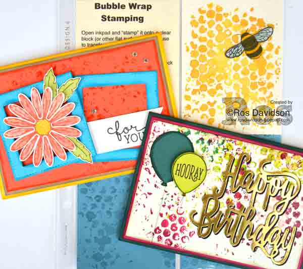 Stampin' Up! techniques class, classes in Skye VIC, happy birthday gorgeous, daisy delight, birthday blooms, big shot, bubble wrap stamping