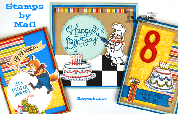 Birthday delivery stamps by mail, Stampin' Up!, classes from home, big shot, instructions available to purchase