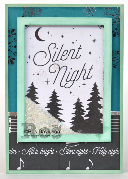 Stampin' Up!, Heart of Christmas cards, free instructions to make Christmas card, merry little christmas memories and more, merry music designer series paper, big shot, layering squares framelits, year of cheer washi tape, shaker card