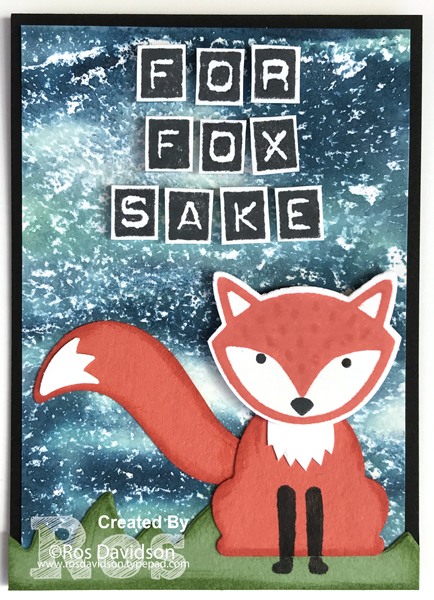 Stampin up, ATC's, artist trading cards, animal theme, fox, what the fox?, for fox sake, punch art, labeller alphabet, foxy friends