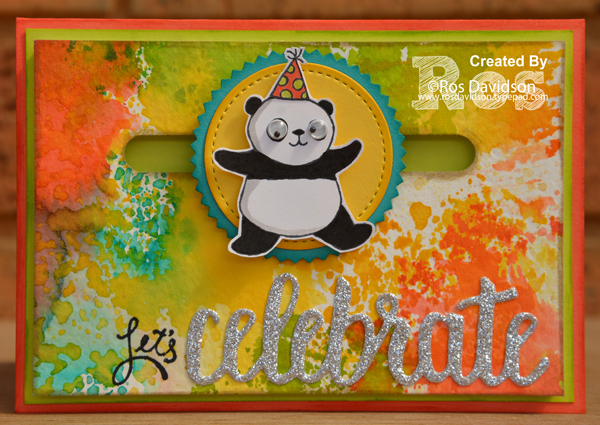 Stampin' Up!, art with heart blog hop, sale a bration, party pandas, amazing you, happy celebrations, bubbles and fizz designer series paper, spinner card, step up card, big shot, celebrate you thinlets