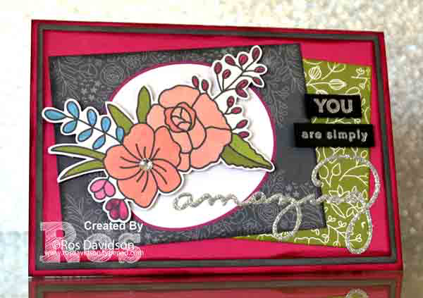 Stampin' Up!, memories and more, sweet soiree, saleabration, sale-a-bration, for you card,   amazing you stamp set, celebrate you thinlets