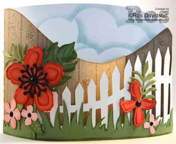 Floral bendi card, botanical blooms, stampin up