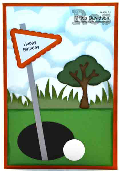 Stampin Up, golf, punch art