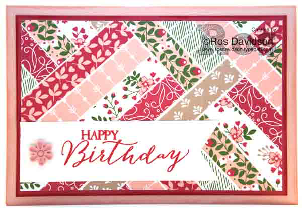 Stampin up, patchwork card, butterfly basics