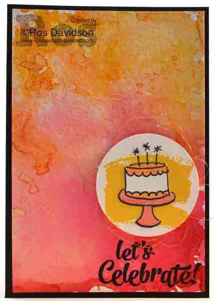 Stampin up, confetti celebrations, work of art, endless birthday wishes, watercolour smoosh