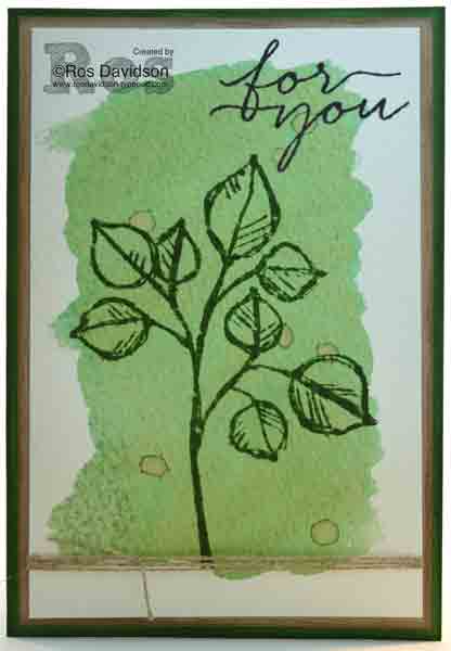Stampin Up, remarkable you, blooms and wishes, watercolor