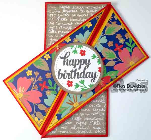 stampin up, diagonal gate fold card, stitched shapes framelits, big shot, love and affection, tin of cards