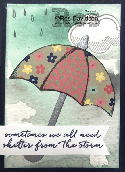 Stampin up, ATC, paper piecing, weather together, lift me up