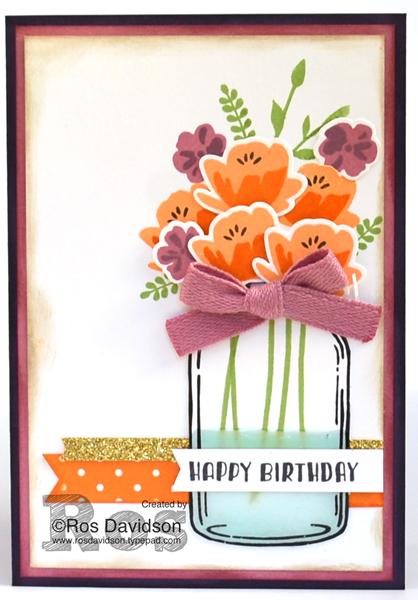 Stampin' Up!, Just Add Ink, jar of love, birthday card