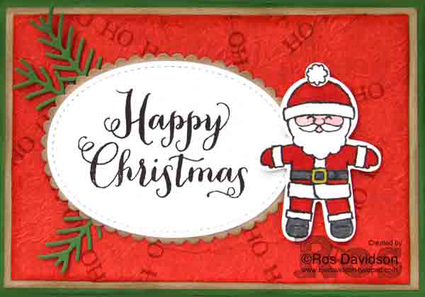 Stampin Up, Christmas card, Oh What Fun, Cookie Cutter Christmas, faux silk technique, The Heart of Christmas, free instructions to make christmas card, big shot, pretty pine thinlets, stitched shapes thinlets, layering ovals , stampin up, stampin up demonstrator, stampin up demonstrator melbourne, handmade card, card classes in Skye VIC