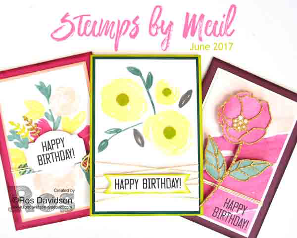 Stamps by mail, soft sayings, birthday cards, classes from home, stampin up